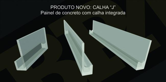 Painel c/ calha integrada