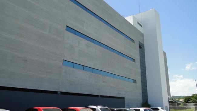 Vista da fachada de fundos