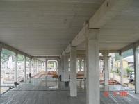 Vista do capeamento e teto